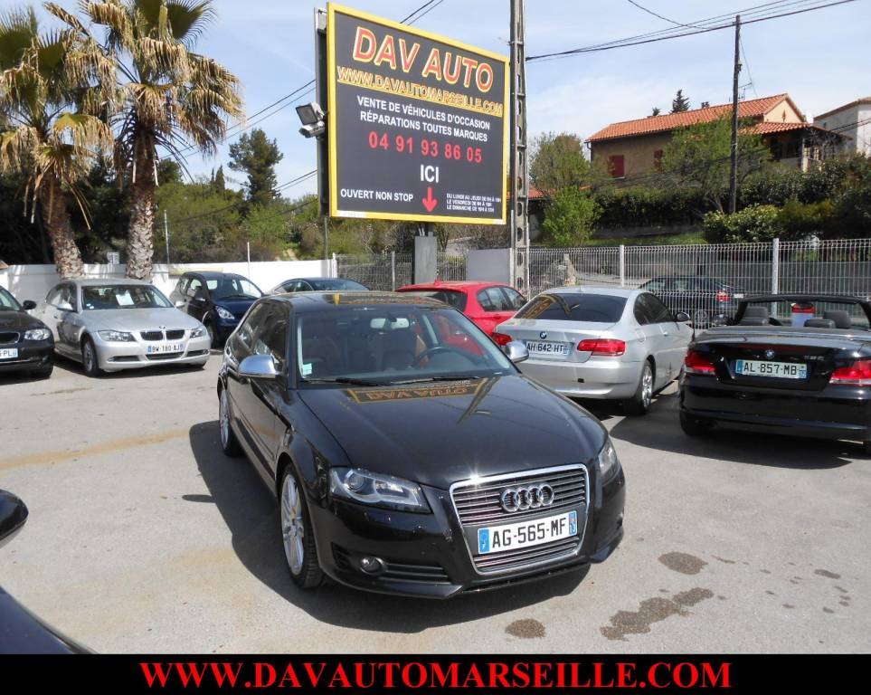 voiture d 39 occasion audi a3 2 0l tdi 140 cvambition luxe ann e 2009 marseille voiture neuve. Black Bedroom Furniture Sets. Home Design Ideas
