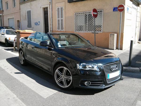 audi a3 cabriolet 2 0 tdi 140 dpf s line d 39 occasion marseille voiture neuve et d 39 occasion. Black Bedroom Furniture Sets. Home Design Ideas