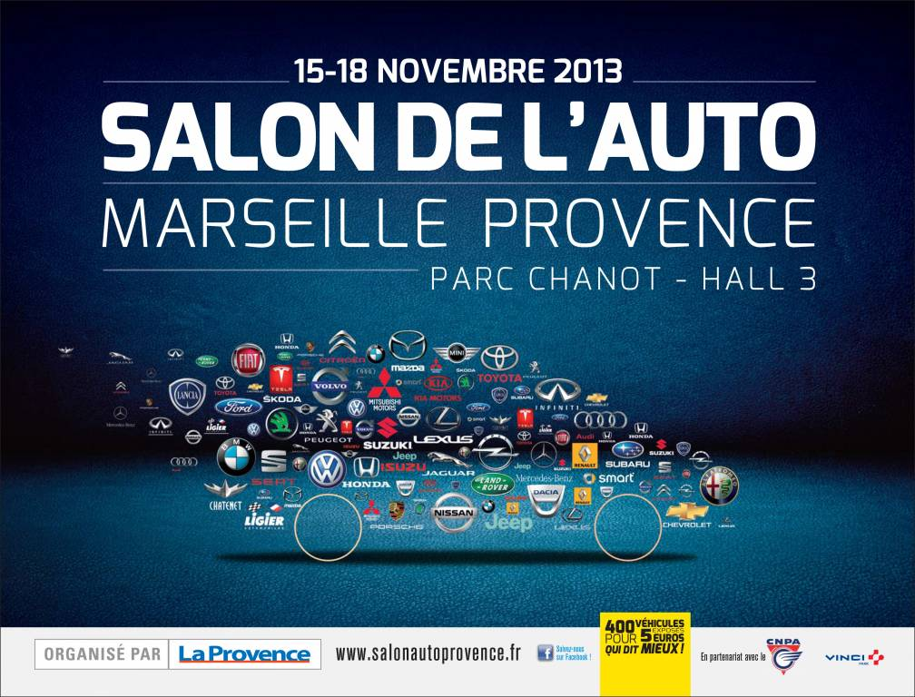 Salon de l auto de marseille 2013 du 15 au 18 novembre au for Salon de l immobilier marseille