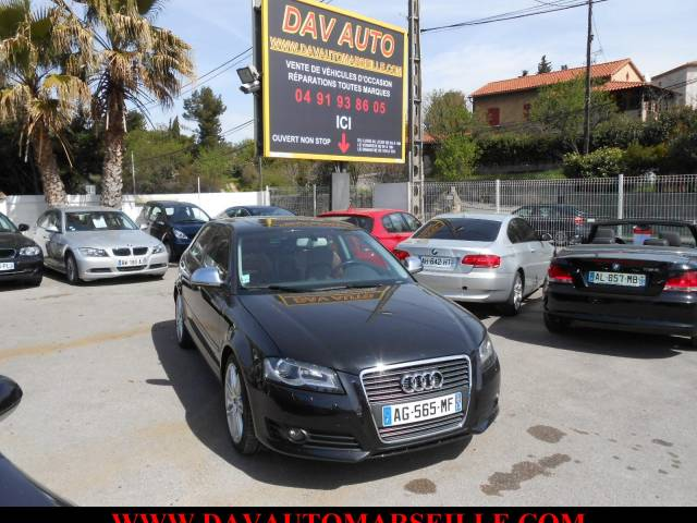 Voiture d 39 occasion audi a3 2 0l tdi 140 cvambition luxe for Garage reprise voiture marseille